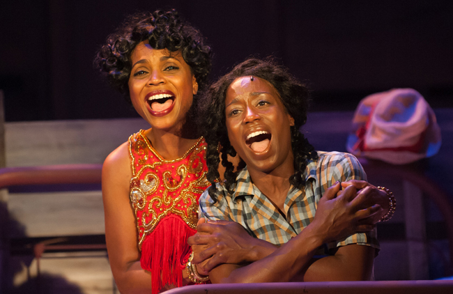 "Carolyn Daughtry and Felicia Curry in ""The Color Purple"" - Photo by Aaron Sutten"